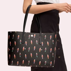 $228 NWT Kate Spade Molly Flock Party Tote + Pouch
